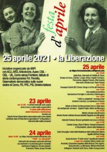 Como, iniziative on line per il 25 aprile
