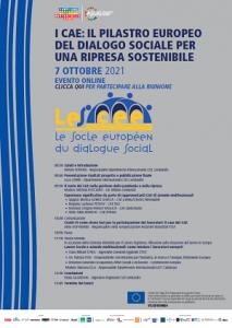 ON LINE - I Cae: il pilastro europeo del dialogo sociale per una ripresa sostenibile