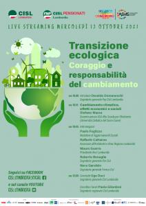 ON LINE - Transizione ecologica, coraggio e responsabilità del cambiamento